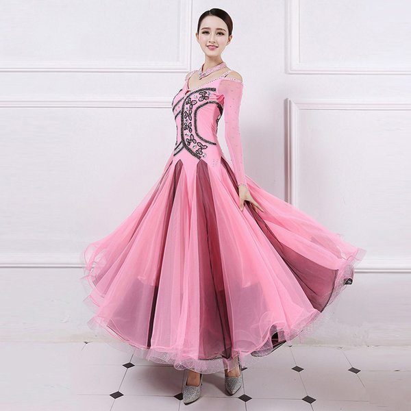 Ballroom Competition Dance Dresses Women Flamenco Tango Waltz Dancing Custome High Quality Lady's Stage Dance Dress
