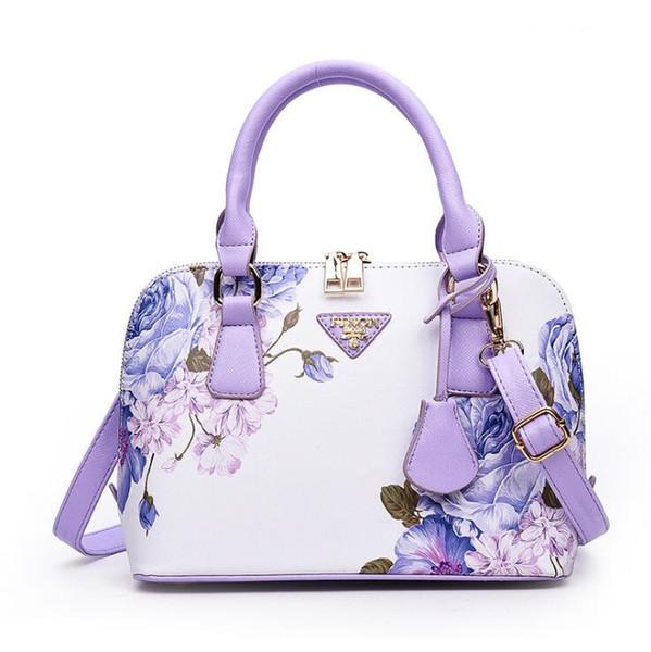Borse vintage shell donna moda flora stampa pu borse da donna di lusso hangbags nuove borse crossbody del progettista per le donne spedizione gratuita