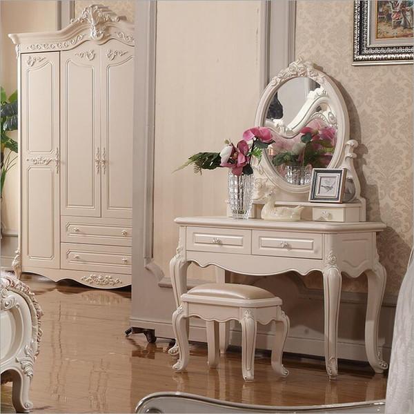 Acquista Prezzo Di Fabbrica Royal Europeo Specchio Tavolo Moderno Comò  Camera Da Letto Francese Mobili Bianco Francese Spogliatoio O10323 A  $562.82 ...