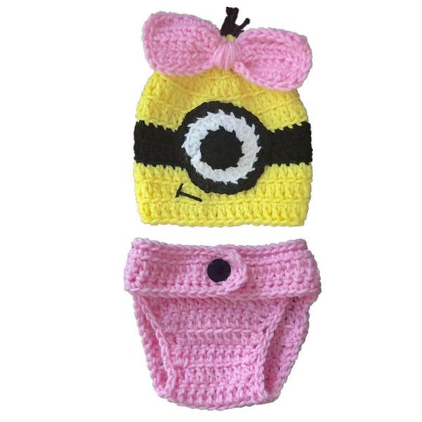 Großhandel Neugeborenes Knit Minion Kostüm, Handgemachtes ...