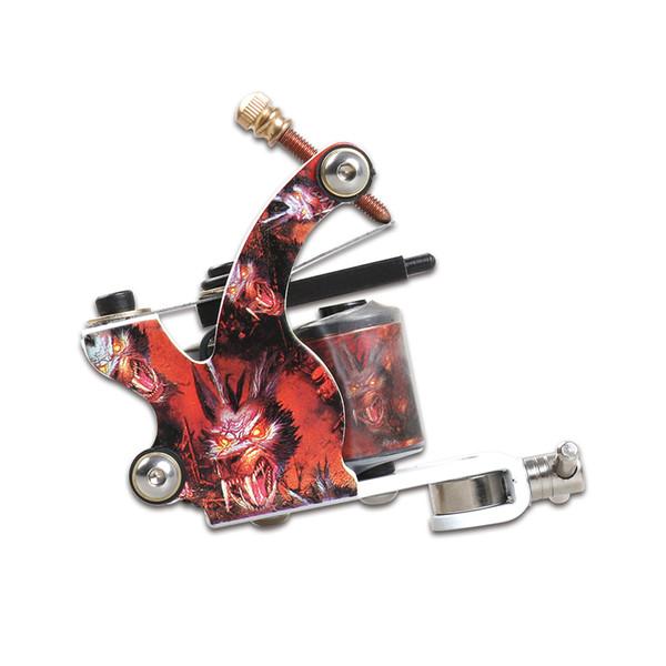 Nouveau revêtement de machine de tatouage et Shader Gun 10 Wraps Bobine Cadre en alliage Tattoo Gun Supply WQ5014