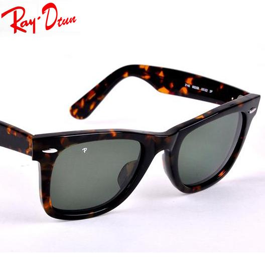 RayDtun Brand Designer Sunglasses for Women Fashion High Quality Men Polarized Glass Lens with Leather Classical Sunglasses Box 50/54MM