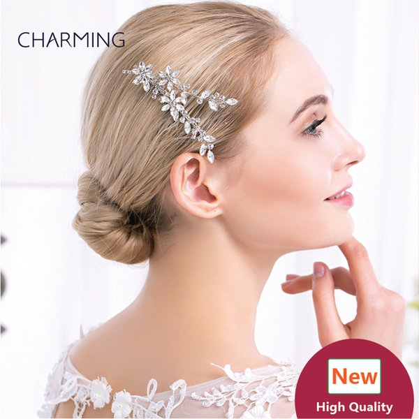 leaf hair accessories crystal hair clips bridal hair accessories best wholesale products china market online free shipping