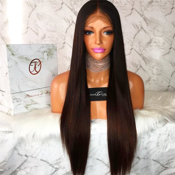 100% Brazilian Virign Remy Human Hair Free shipping 10-26 inch STOCK Silky Straight African American Glueless Full Lace Wig &Front Lace Wig