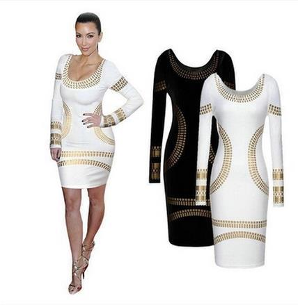Europe and the United States in 2015 star foreign trade leisure OL hot stamping of cultivate one's morality dress pencil skirt 69028