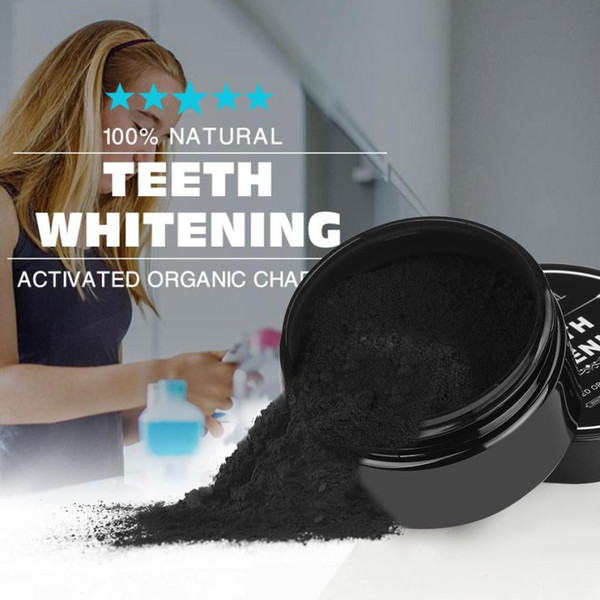 top popular 30g Teeth Whitening Powder Natural Organic Activated Charcoal Bamboo Toothpaste remove plaque 3AP24 2021