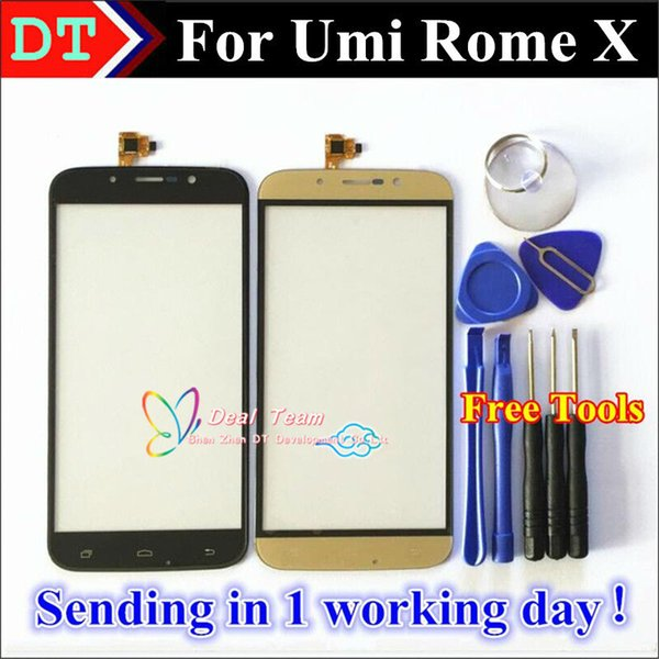 Wholesale- New High Quality Umi Rome X Touch Screen Digitizer Glass Panel Capacitive Lens Assembly Replacement Black / Gold Color