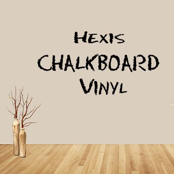 For Hexis Chalkboard Vinly Movable Wall Sticker Home Decor Removable Bedroom Sitting Room Vinyl Decal Diy