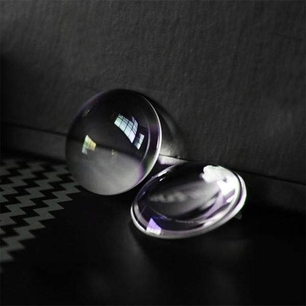 Venta al por mayor- Lente DIY BiConvex para Google Cartón Gafas 3D VR Vidrio óptico Cartulina Google 20pcs / lot 25 * 45MM