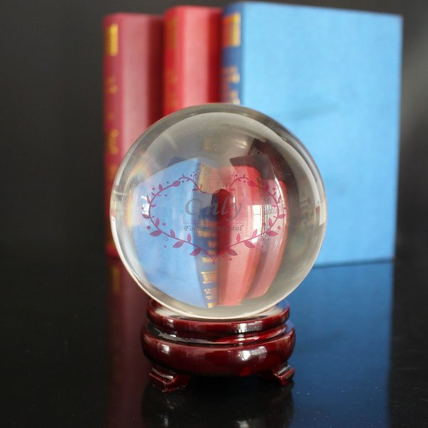 Free shipping HOT Sell Large Size 100mm 4 inch Crystal Glass Ball Fengshui Products Healing Sphere decoration
