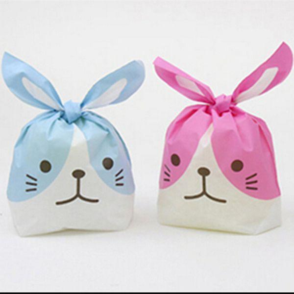 Großhandels- 20pcs / lot Kaninchenohrplätzchenbeutel-Plastiksüßigkeit Keks-verpackenbeutel-Hochzeits-Süßigkeits-Geschenk-Taschen-Partei-Versorgungsmaterialien