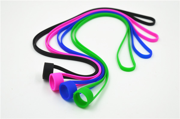 Universal Silicone Lanyard Vape Band O Rings Silicon Necklace Colorful for fit 16mm-25mm E-cigarette E cig Kits RDA RBA Tank Atomizer