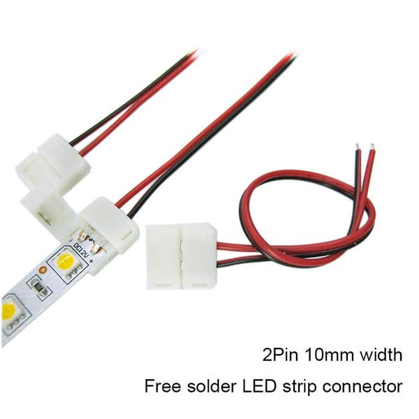 Connettore a striscia LED pin 10mm / pin 8mm con connettore per saldatura a filo libero per 5050 3528 3014 2835 LED Strip Light