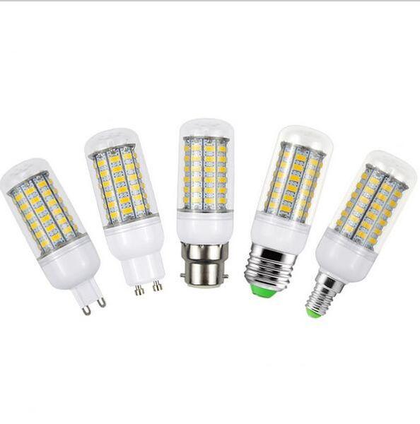 E27 E14 G9 GU10 B22 LED Corn Bulb Replace 25W Fluorescent Lights 5730SMD 69LEDs 220V LED lamp For Chandelier Candle Lighting