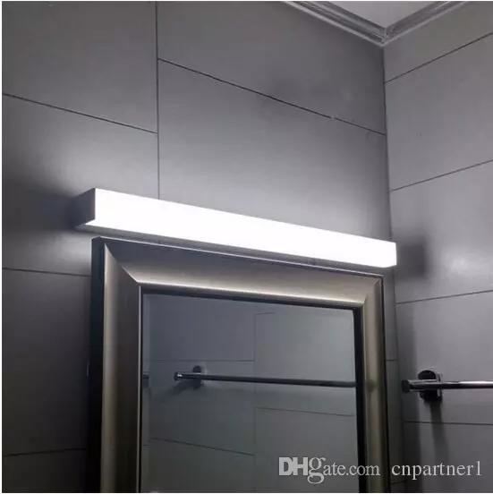 2017 Modern led mirror light 7w 8W 10W 14w 16w 1ft 2ft 700mm waterproof wall lamp fixture Acrylic wall mounted bathroom light lighting