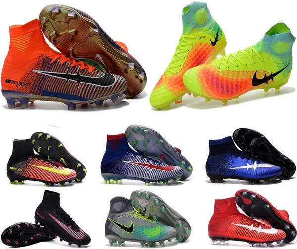 2017 Pixels Soccer Shoes Mens Kids Mercurial Superfly FG AG Soccer Boots  Superflys V AG CR7