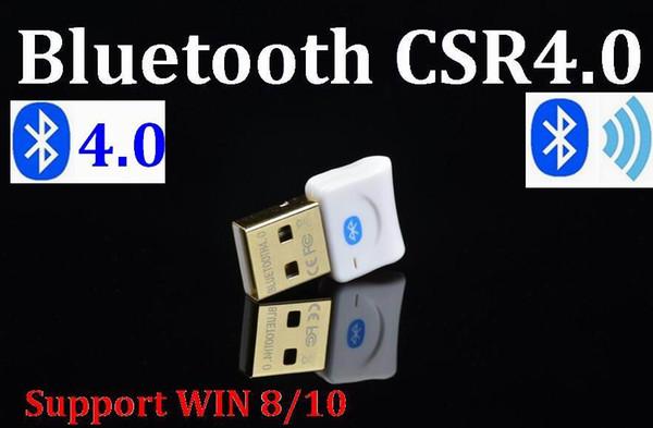 100set / lot * Mini USB Bluetooth V4.0 Dual Mode Wireless Dongle conector CSR 4.0 Adapter Audio Transmitter para Win8 7 WIN10 XP 25