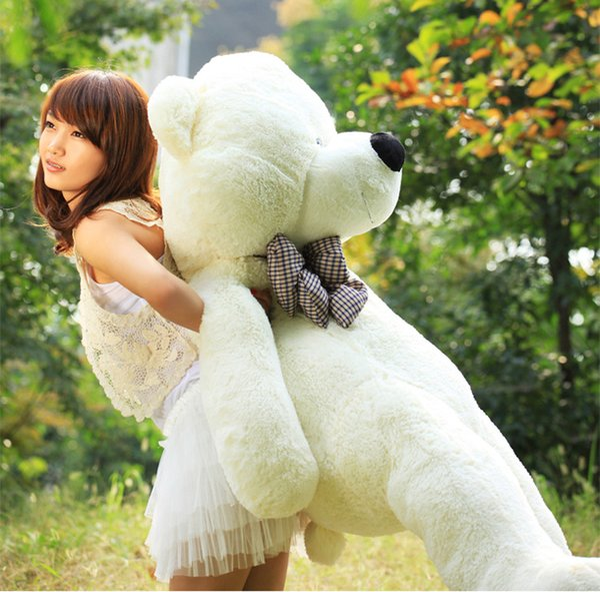 2017 hot Giant Teddy Bear 72 inch 180 CM Feet Teddy Bear Stuffed Light Brown Giant Jumbo Valentine's Day Birthday Gift