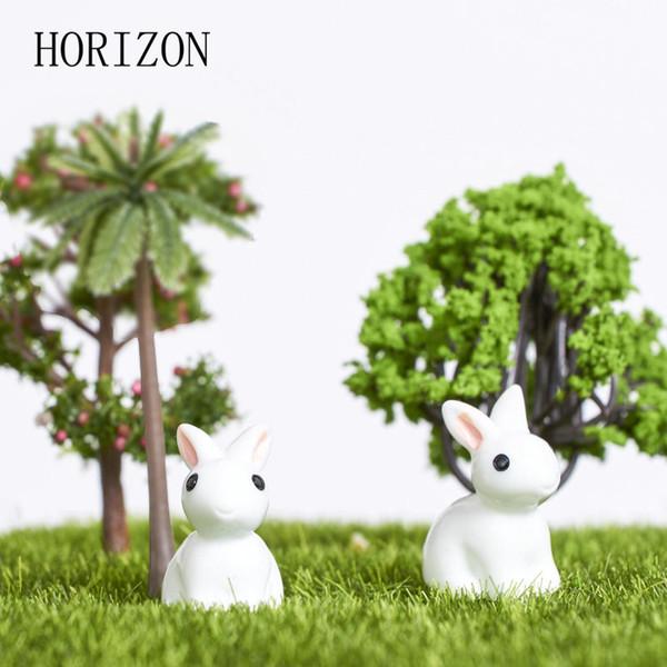 Venta al por mayor- 2016 nuevo mini conejo caliente / erizo / adorno de tortuga estatuilla miniatura planta de hadas decoración del jardín decoración del hogar 2 unids