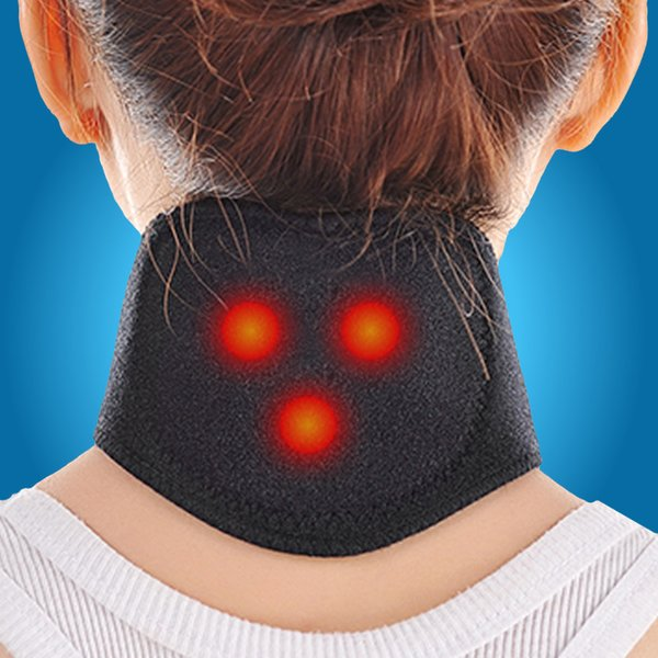 20Pcs Magnetic Therapy Neck Massager Cervical Vertebra Protection Spontaneous Heating Belt Body Massager neck Free Shipping