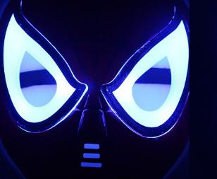 Spider Man Mask LED Masquerade Children Full Animation Plastic Kids Beaming Mask Halloween Party Costume Accessories