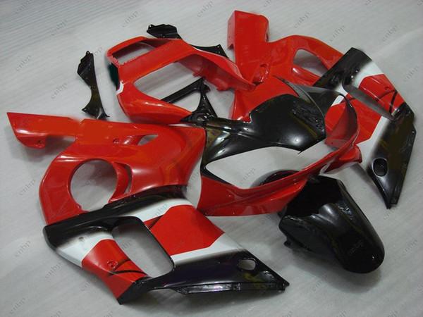 Kit de carrosserie YZF R6 2001 Carénages en plastique YZFR6 2002 Rouge Noir Carrosserie YZF600 R6 00 01 1998 - 2002