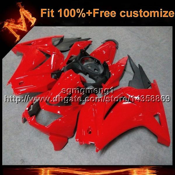 23colors + 8Gifts rojo Carenado de la carrocería para Kawasaki ZX250R Ninja 08 09 ZX-250 R 08-09 ZX 250R 2008-2009 Moldeo por inyección