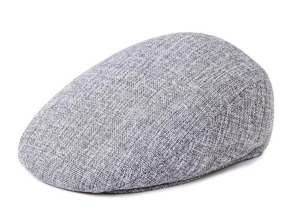 c15359eafaf Newsboy Beret Caps for Men And Women Fashion British Autumn Winter Warm  Linen Cabbie Cap Hats Flat Cap for Male High Quality