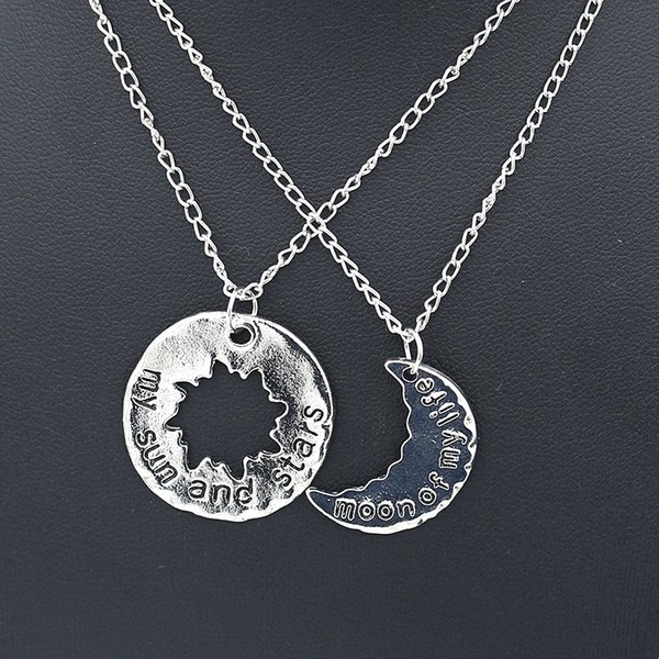 His And Hers Khaleesi Game Of Thrones Necklace Moon Of My Life my Sun And Stars Statement Necklace Pendants For Womens Jewelry Couple
