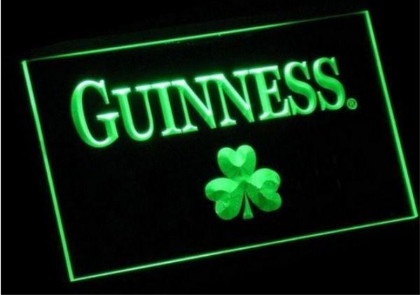 Guinness Shamrock beer bar pub club 3d signs led neon light sign home decor crafts