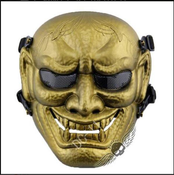 Top Grade CS Game Japanese Buddhist Evil Oni Noh Hannya Mask Theme Resin Masquerade Party Terror Masks Full Face CS Mask Outdoor