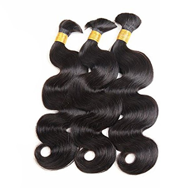 best selling Unprocessed Brazilian Virgin Hair Body Wave Human Hair Bulk No Weft Human Hair For Braiding 100g Per Bundle