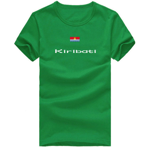 Kiribati T shirt High jump sport short sleeve Warm season tees Nation flag clothing Unisex cotton Tshirt