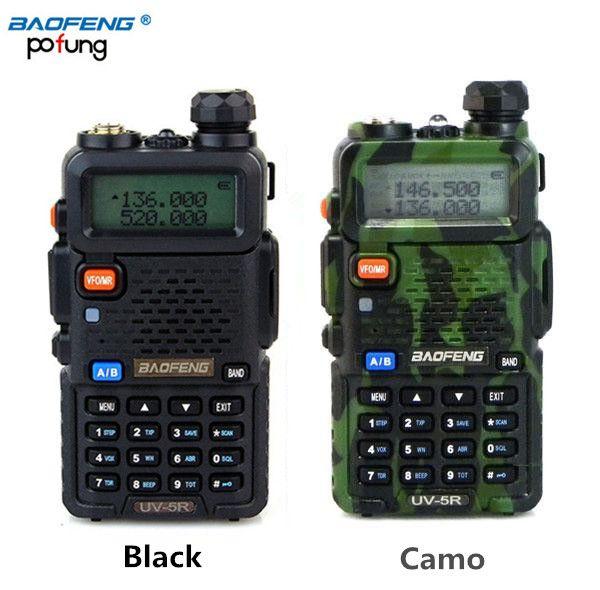 Vente en gros - BAOFENG UV-5R Walkie Talkie Radio bi-bande 136-174Mhz 400-520 MHz Radio portable bi-directionnelle UV5R (noir / camouflage)