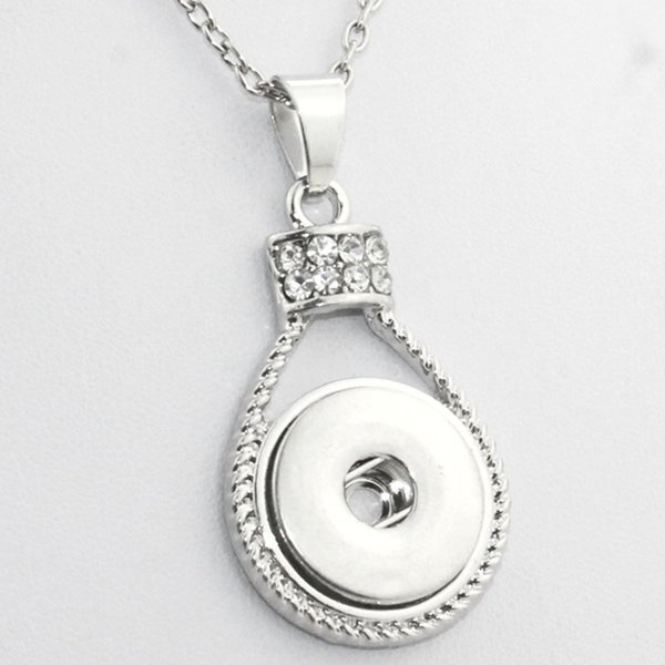 Boom Life Crystal Long Necklaces And Chokers Boho Bohemian Necklaces &Pendants Ne303 Women 'S Vintage18mm Snaps Button Necklace