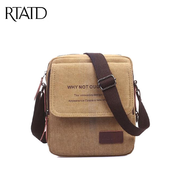 Wholesale 2016 Men Messenger Bags Canvas Vintage Bag Men Shoulder ...