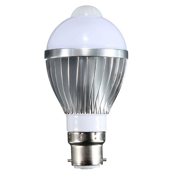 B22 5/7/9W 5730 SMD Auto Smart Motion PIR Infrared Sensor Body Lamp Detection LED light Lamp Bulb Pure Warm White 85-265V