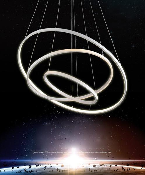 lampadari moderni sala da pranzo soggiorno 3/2/1 circle rings ... - Illuminazione Soggiorno E Sala Da Pranzo 2