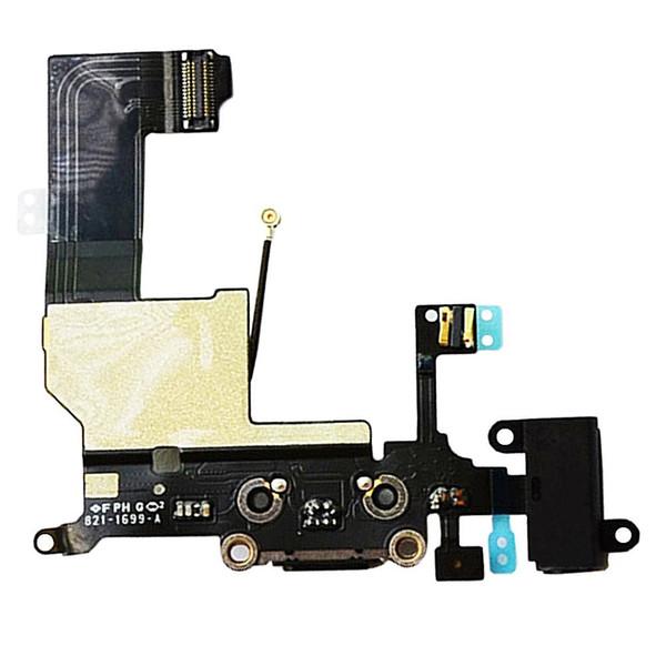 Johncase original iphone 5 Tecla de reemplazo Casquillo de la llave Cable flexible Ensamble la junta de goma y la pieza de metal para el iphone 5G (Blanco)