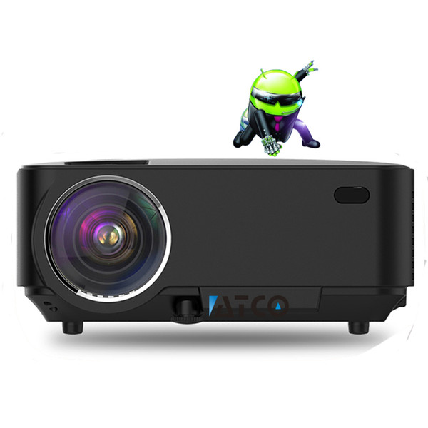 Wholesale- ATCO HD Projektor Smart Quad core Android 4.4 Wifi 1500Lumen Home Theater Digital Cinema 1080P Video LCD LED 3D Projector CT-100