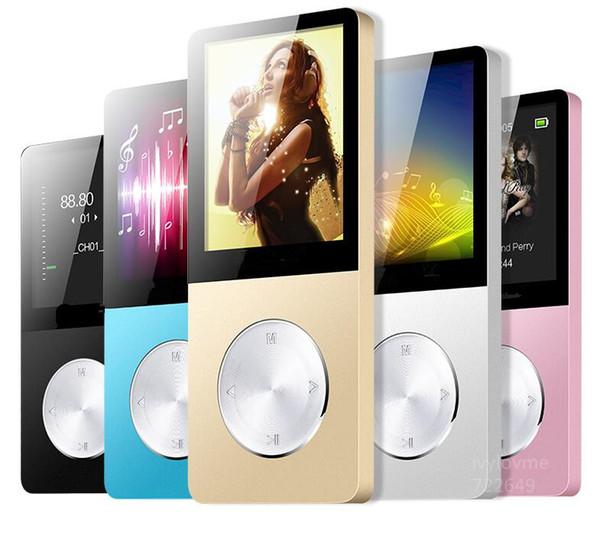 Metal MP3 MP4 Çalar 4 GB / 8 GB / 16 GB Ince Spor MP4 Oyunu Lcd Flaş Hifi Mini Müzik Video Oynatıcı FM Radyo TF Kaydedici