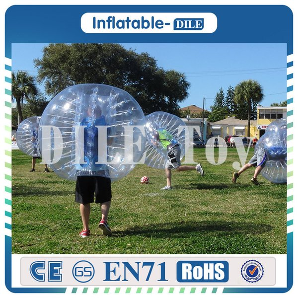 Aufblasbarer Blasen-Fußball-Fußball Durchmesser 1,5m PVCs für Kinder, Zorb-Ball, aufblasbarer menschlicher Hamster-Ball, Stoßball für Kinder