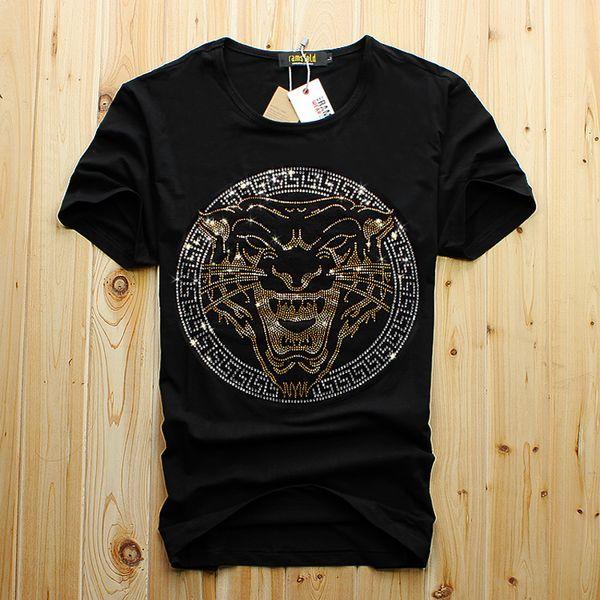 Männer Luxus Diamant Design T-Shirt Mode T-Shirts Männer lustige T-Shirts Marke Baumwolle Tops und T-Shirts kostenloser Versand