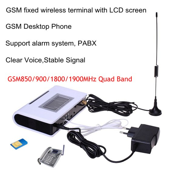 Quad Band GSM Fixed wireless terminal, 850/1900/900/1800 MHZ support alarm system, PABX, clear voice, stable signal