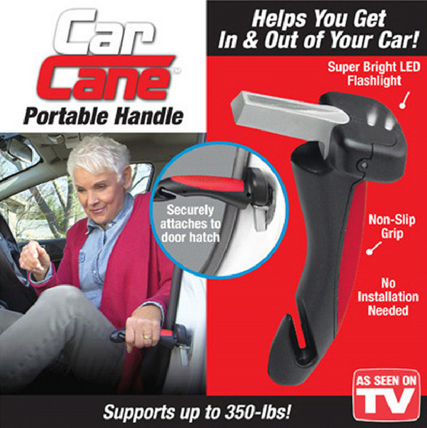 Wholesale- Portable Car Handle Cane Support Auto Assist Grab Bar Vehicle Emergency Escape Hammer Tool with Window Breaker and Seat Belt Cut