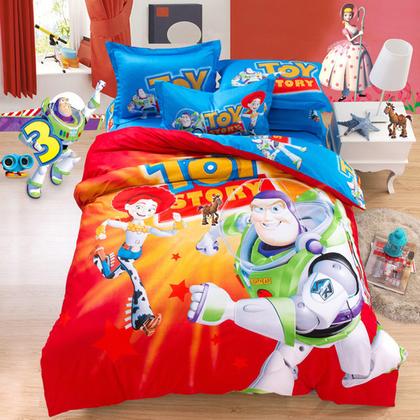 Wholesale- Cartoon Toy Story Kids Bedding Set Twin Queen King Size ... : toy story quilt cover set - Adamdwight.com