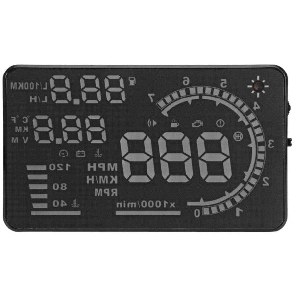 High Quality 5.5'' Car HUD Auto Head Up Display LCD Digital Projector Vehicle OBD II Interface A8 HUD Overspeed Alarm System