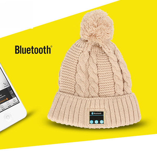 Bluetooth Hat Wireless V4.0 Headphone Men Women Winter Outdoor Music Hat Knitted Warm Christmas Cap Stereo Headset Handfree for Cell Phones