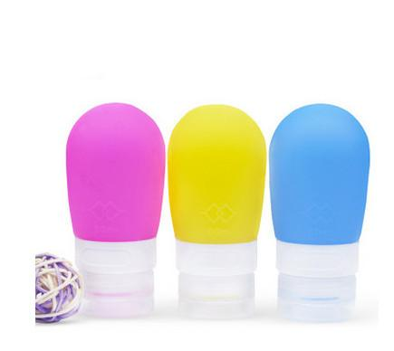 2017 New 38ml Mini Cute Portable Silica Gel Empty Circular Shampoo Bottle With Colorful For Traveler