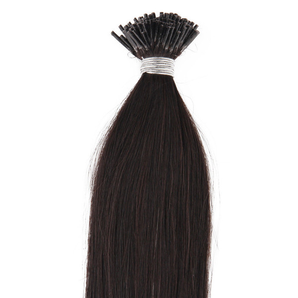 Hot Sale Straight Unprocessed peruvian i-tip Human hair extensions Brazilian human hair pre-bonded hair extensions 50 gram For Sale